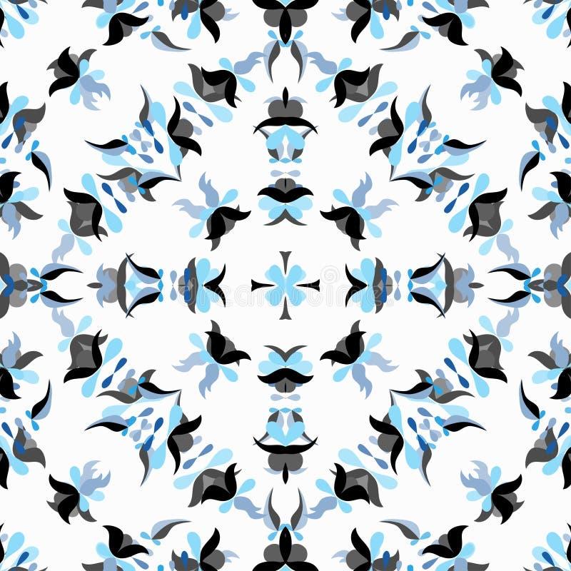 Härlig blått blommar på en vit bakgrund stock illustrationer