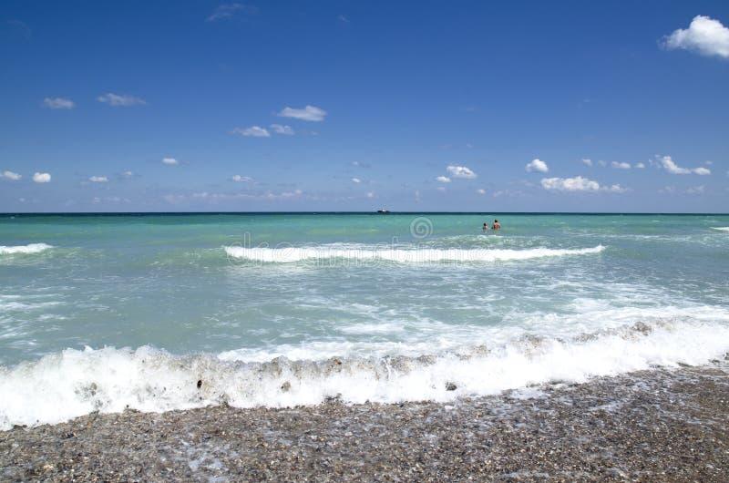 Härlig Black Sea strand, Shabla, Bulgarien royaltyfri bild
