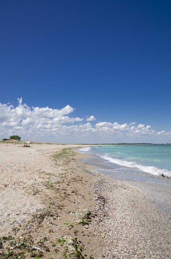 Härlig Black Sea strand, Shabla, Bulgarien royaltyfri fotografi
