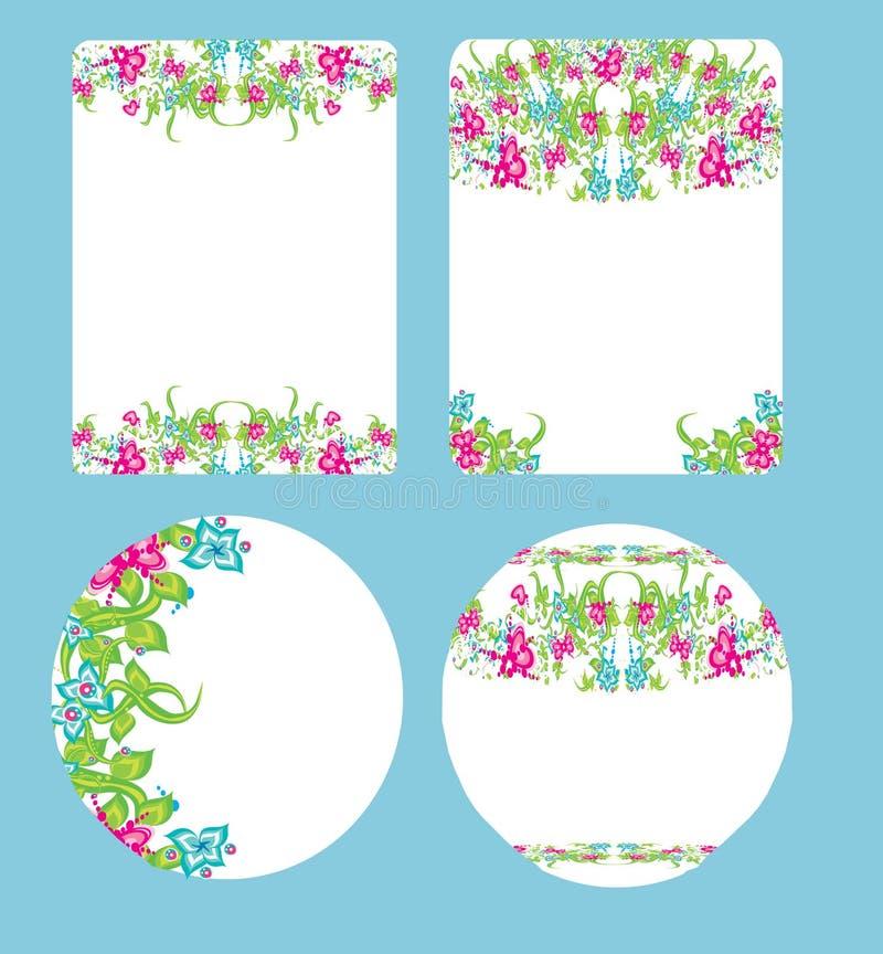 Härlig blom- bröllopdesign vektor illustrationer