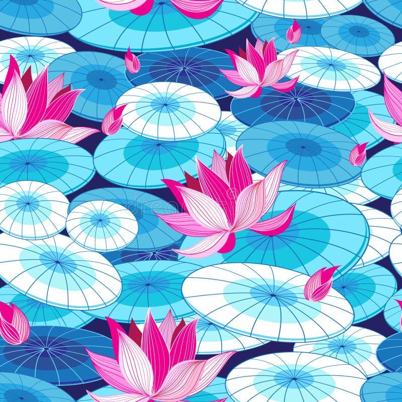 härlig blom- modell royaltyfri illustrationer