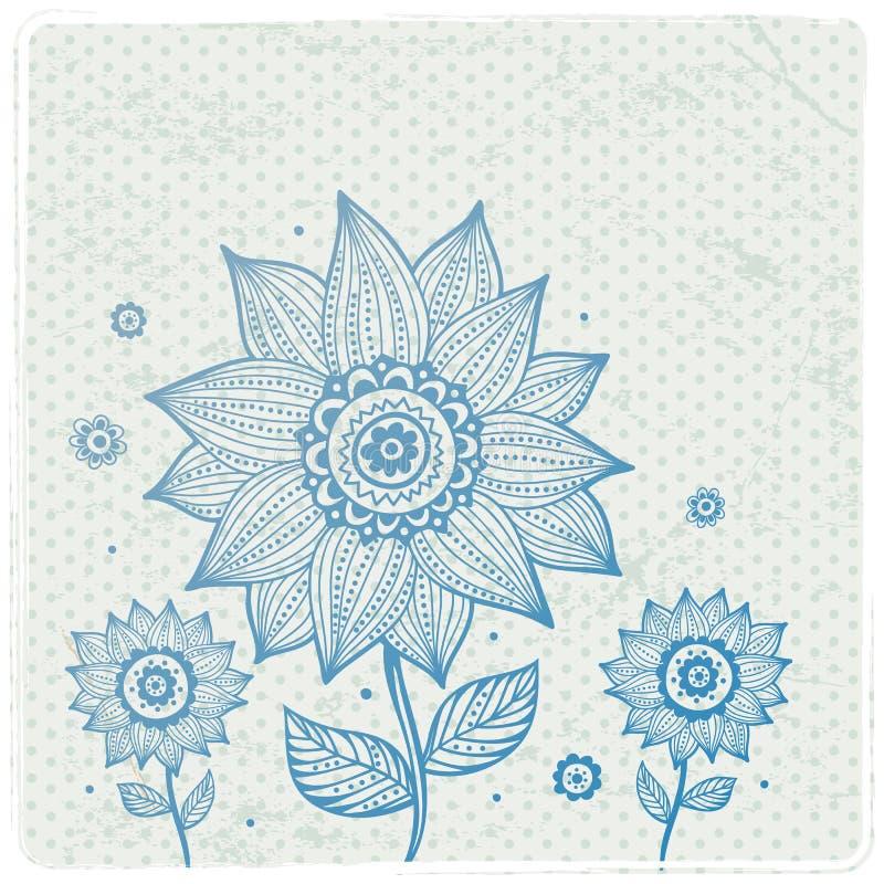 Härlig blom- prydnad vektor illustrationer