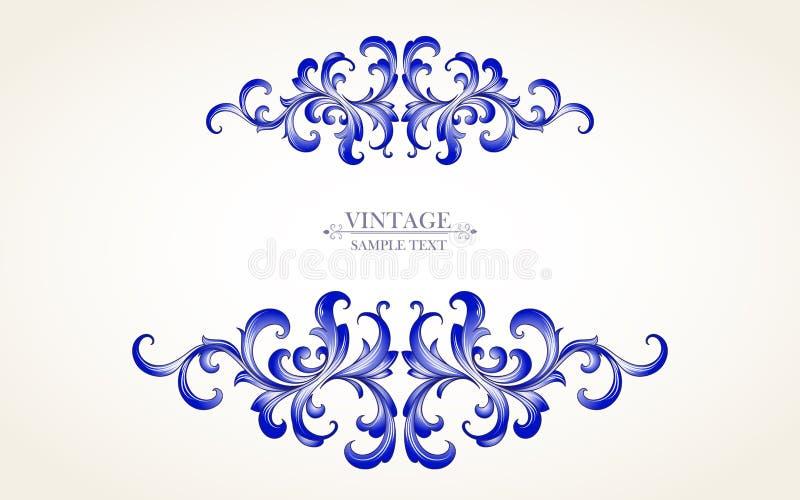 Härlig blom- ram i tappningstil Beståndsdel för design också vektor för coreldrawillustration royaltyfri bild