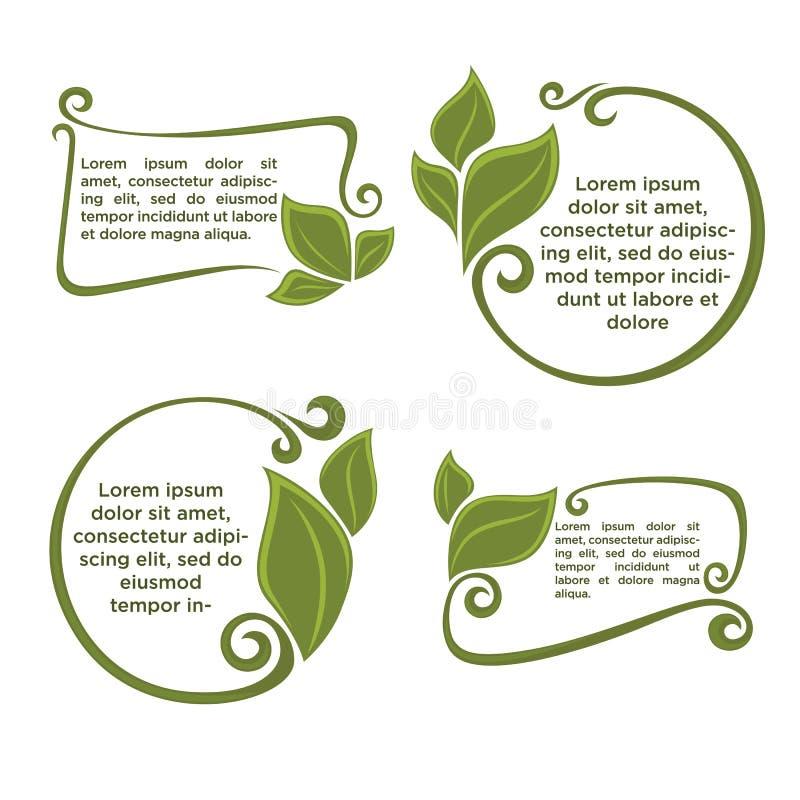 härlig blom- ramillustrationvektor royaltyfri illustrationer