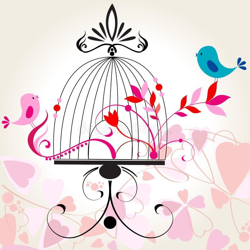 härlig blom- romantiker för bakgrund royaltyfri illustrationer