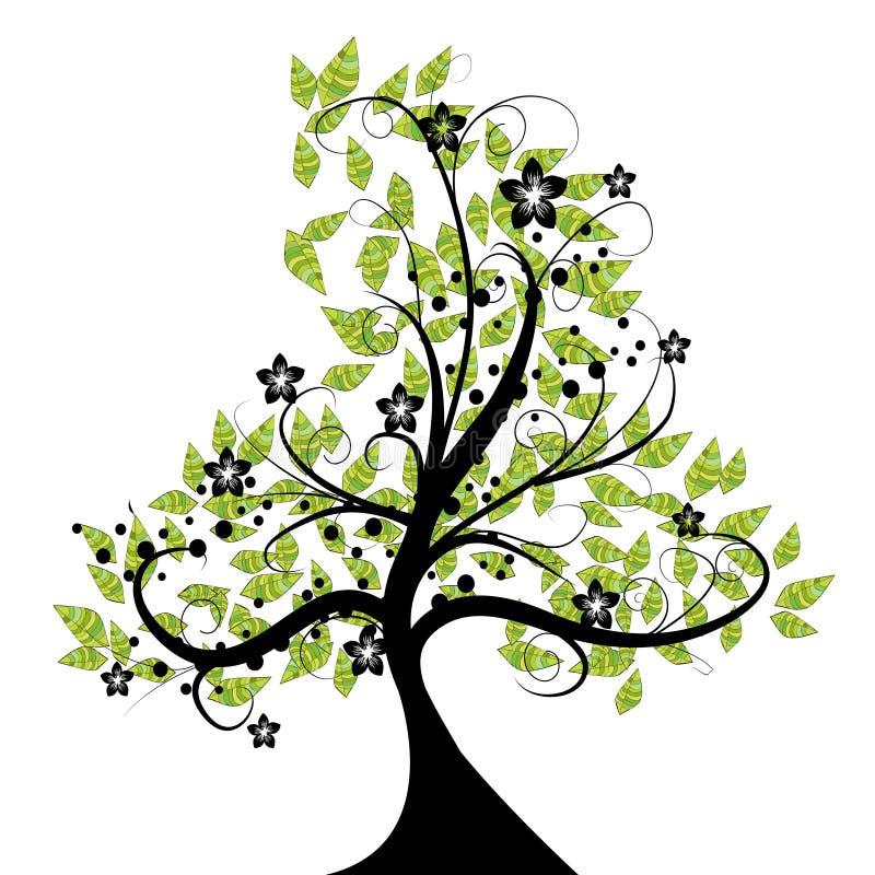 härlig blom- tree vektor illustrationer