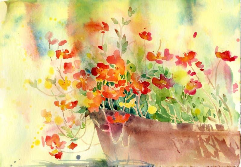 Härlig blomma för garnering royaltyfri illustrationer