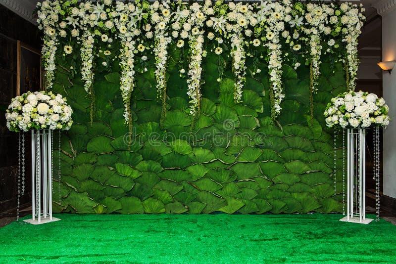 Härlig blommabakgrund för att gifta sig arkivfoto