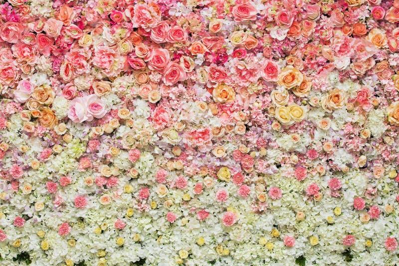 Härlig blommabakgrund för att gifta sig royaltyfria foton