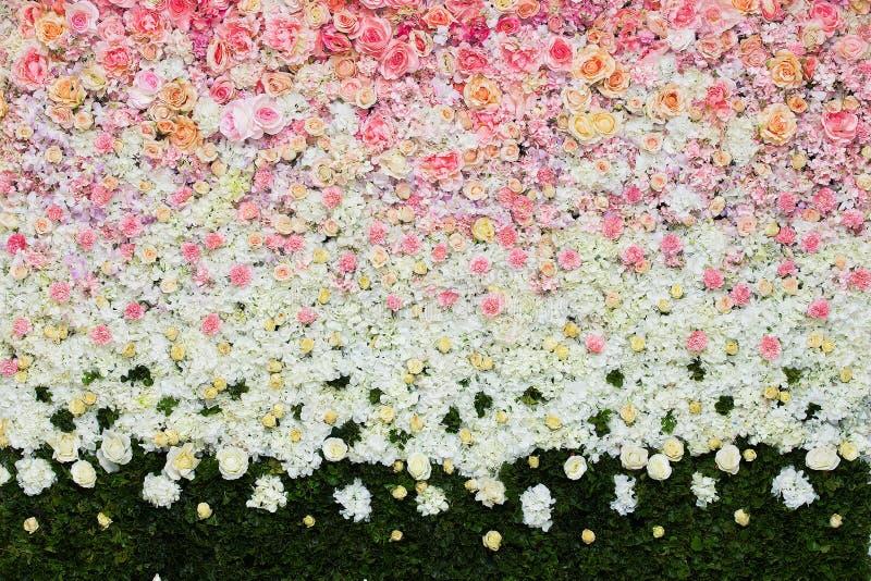 Härlig blommabakgrund för att gifta sig arkivbild