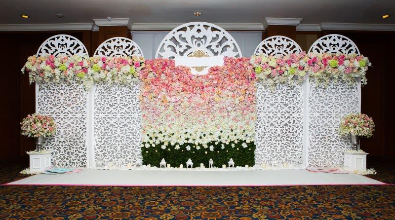 Härlig blommabakgrund för att gifta sig arkivfoton