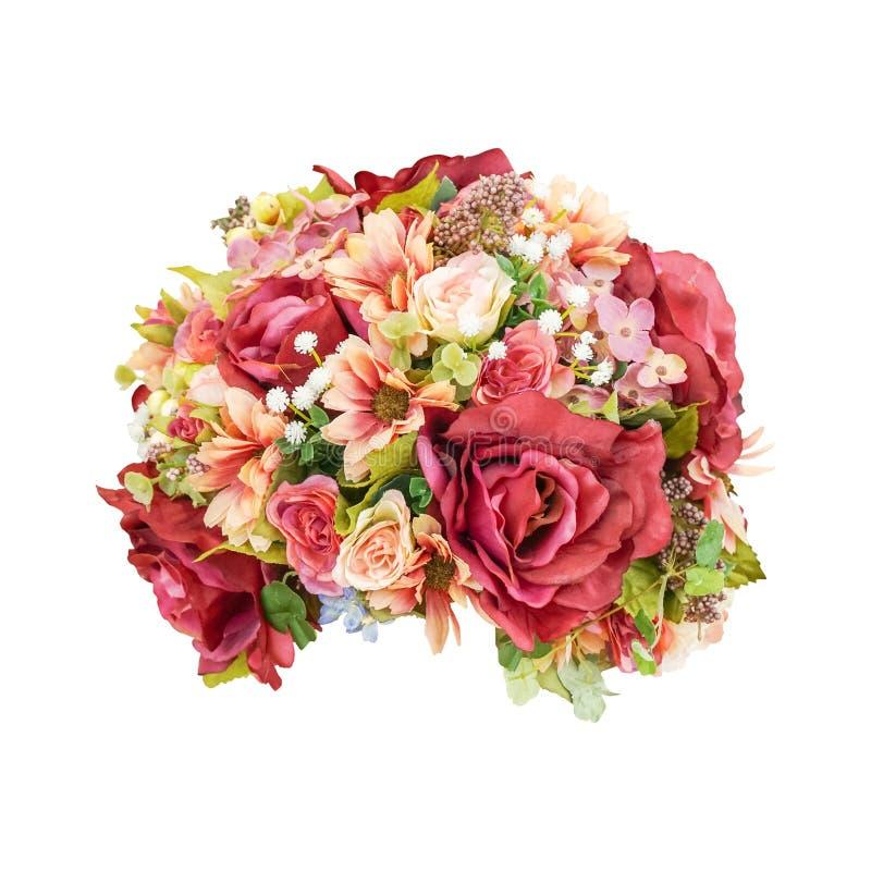 Härlig blommabukett som isoleras på vit bakgrund royaltyfri fotografi