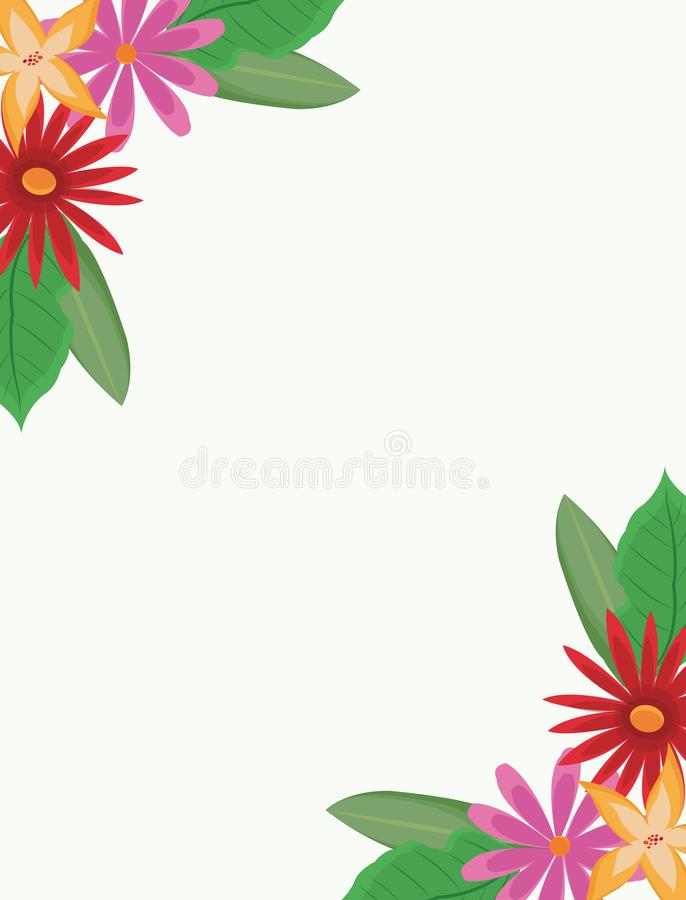 härlig blommaram stock illustrationer