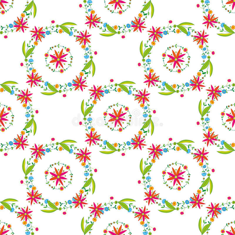 Härlig blommavektormodell på vit bakgrund royaltyfri bild