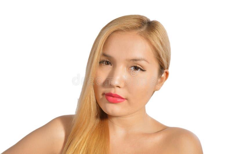 Härlig blond asiat arkivfoto
