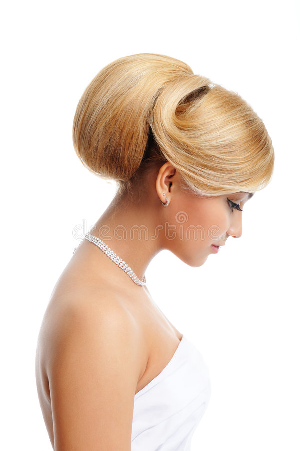 härlig blond elegant kvinna royaltyfri foto