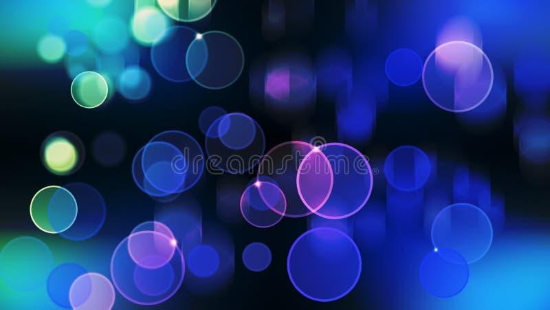 Härlig bokeh med mång- färger, ljus för bakgrund för ljusbokeh defocused och suddiga bokeh, bakgrund för tolkning 3d royaltyfri illustrationer