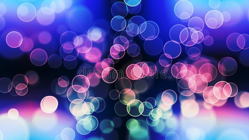 Härlig bokeh med mång- färger, ljus för bakgrund för ljusbokeh defocused och suddiga bokeh, bakgrund för tolkning 3d arkivfoto