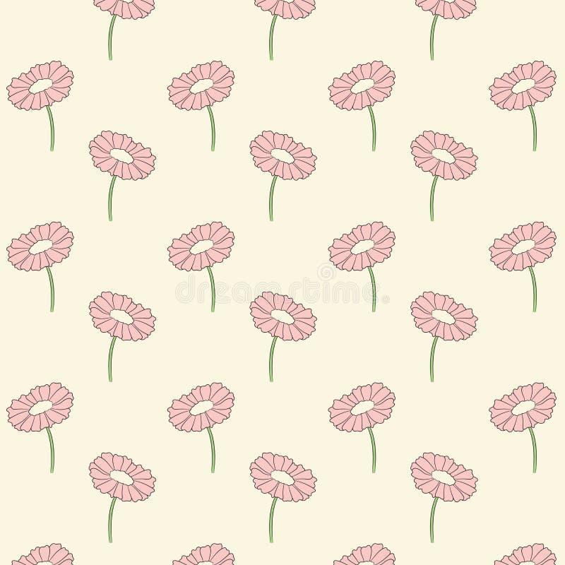 Härlig botanisk Gerber tusensköna vektor illustrationer