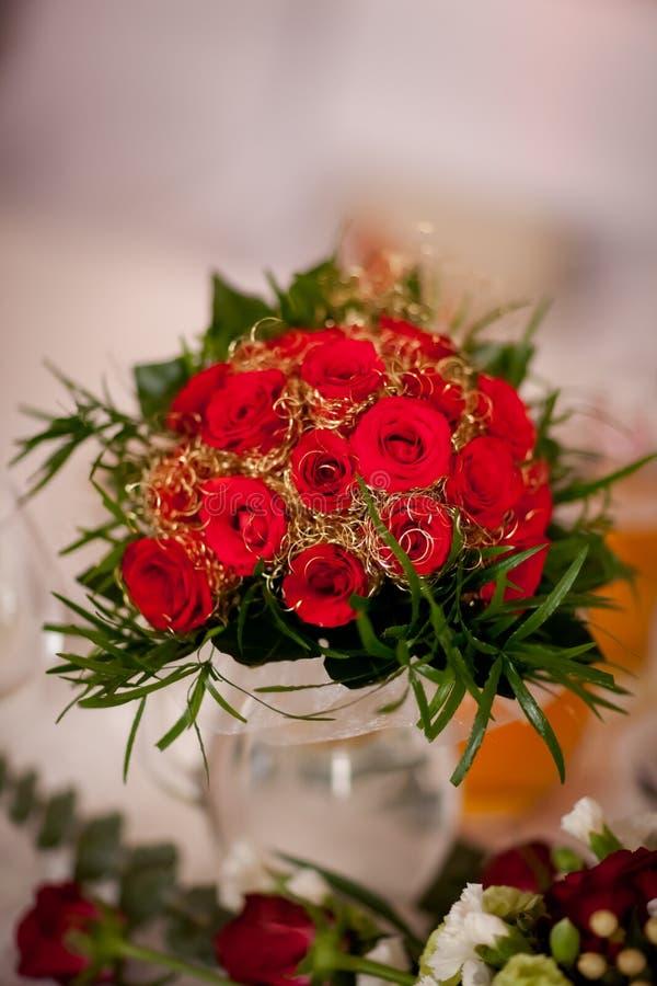 Härlig bröllopbukettdetalj royaltyfria bilder