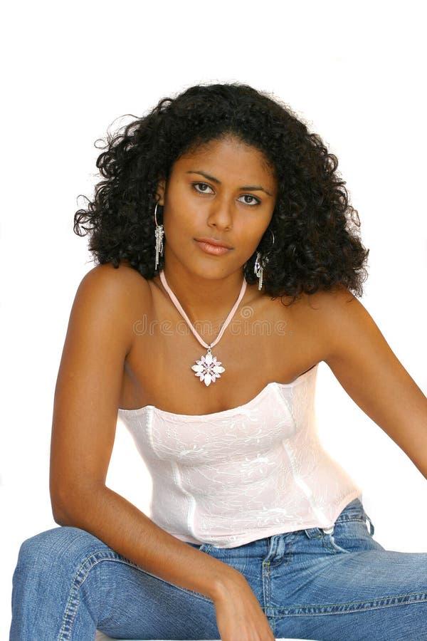 härlig brasiliansk flicka arkivfoton