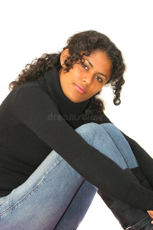 härlig brasiliansk flicka royaltyfri fotografi