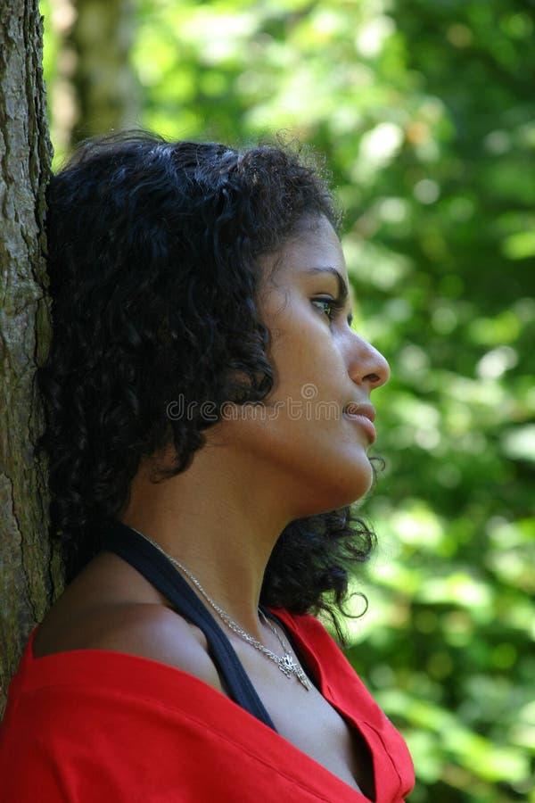Härlig Brasiliansk Kvinna Arkivfoto