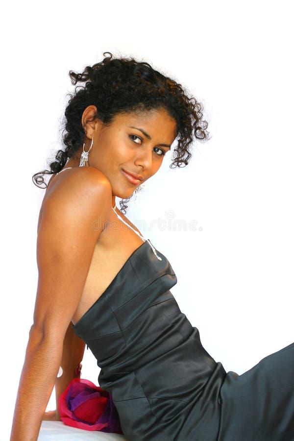 härlig brasiliansk kvinna royaltyfri fotografi