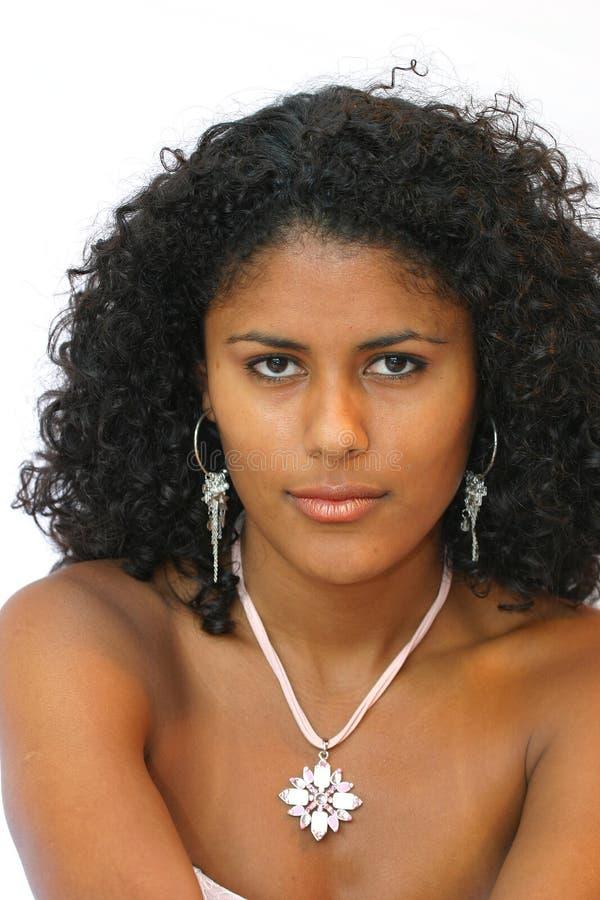härlig brasiliansk kvinna arkivfoton