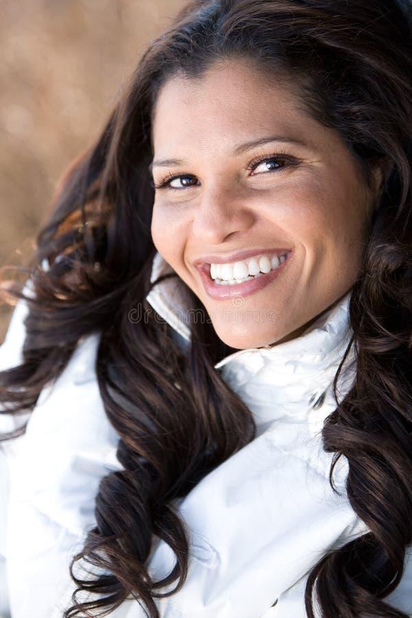 härlig brasiliansk kvinna royaltyfria bilder