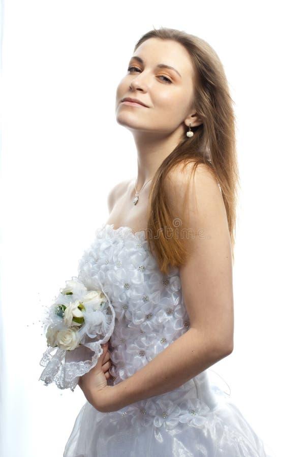 Härlig brud V royaltyfri foto