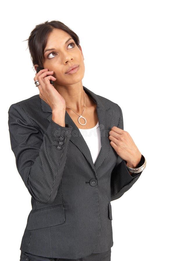 härlig brunettaffärskvinna arkivfoton