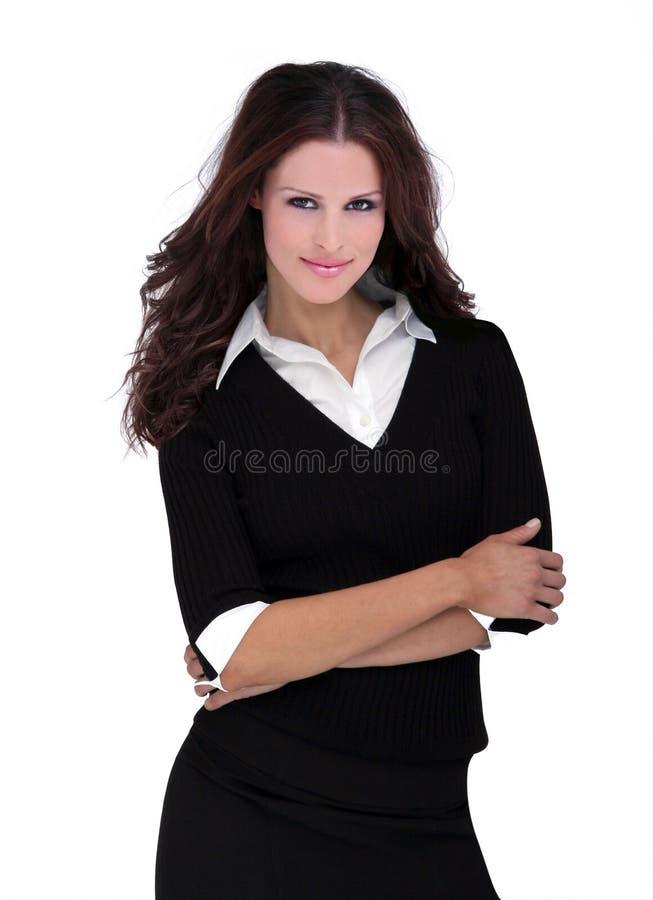 härlig brunettmodell royaltyfria foton