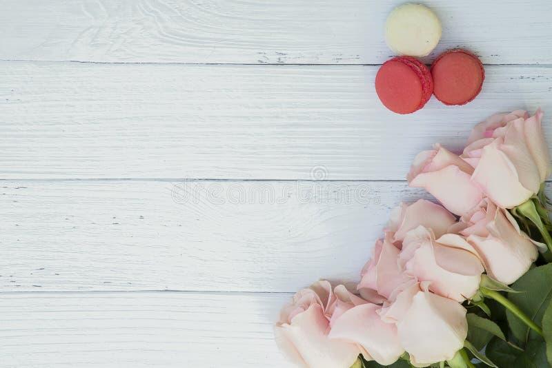 Härlig bukett av mjuka rosa rosor arkivbild