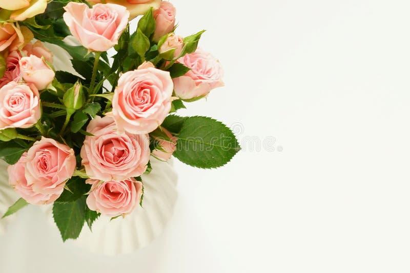 Härlig bukett av Pale Pink Roses royaltyfria bilder