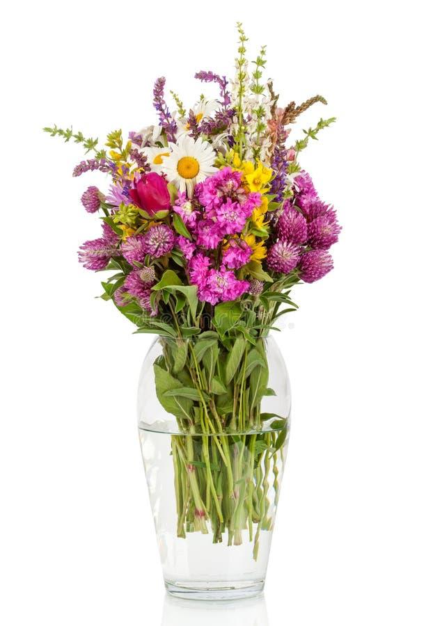 Härlig bukett för lösa blommor royaltyfria bilder