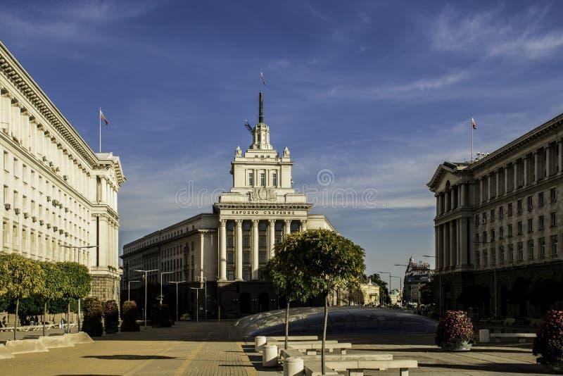 Härlig bulgarisk huvudstad - Sofia i Oktober royaltyfri fotografi