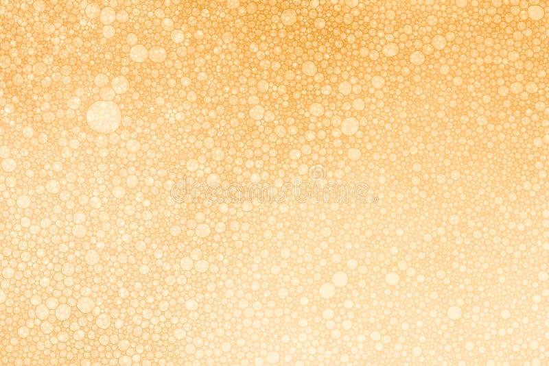 Härlig Champagne Gold Bubbles textur arkivfoton