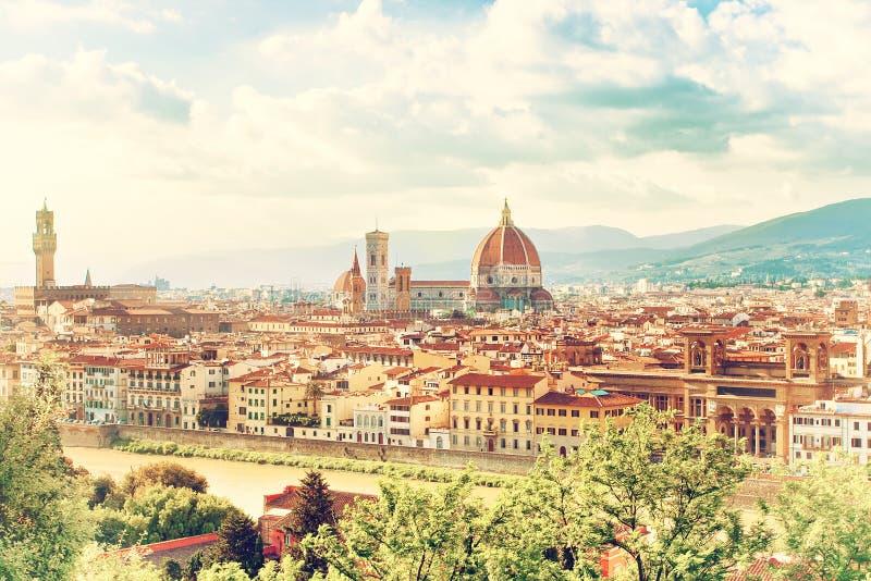 Härlig cityscape av Florence arkivbild