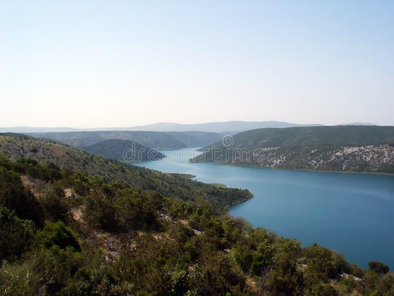 härlig croatia krkaflod royaltyfria foton