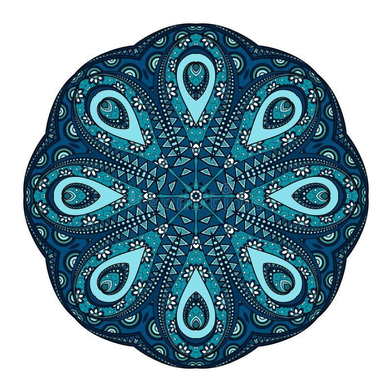 Härlig Deco för vektor kulör Mandala royaltyfri illustrationer