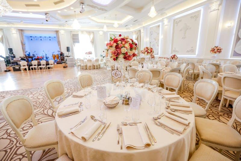 Härlig dekor för bröllopceremoni royaltyfria bilder