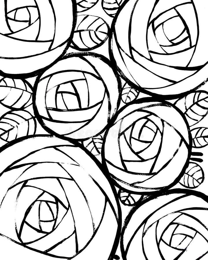 Härlig dekorativ bakgrund med rosor vektor illustrationer