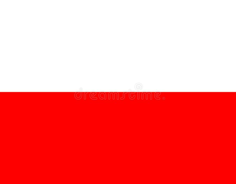 Härlig design i de ljusa färgerna av Polen royaltyfri illustrationer