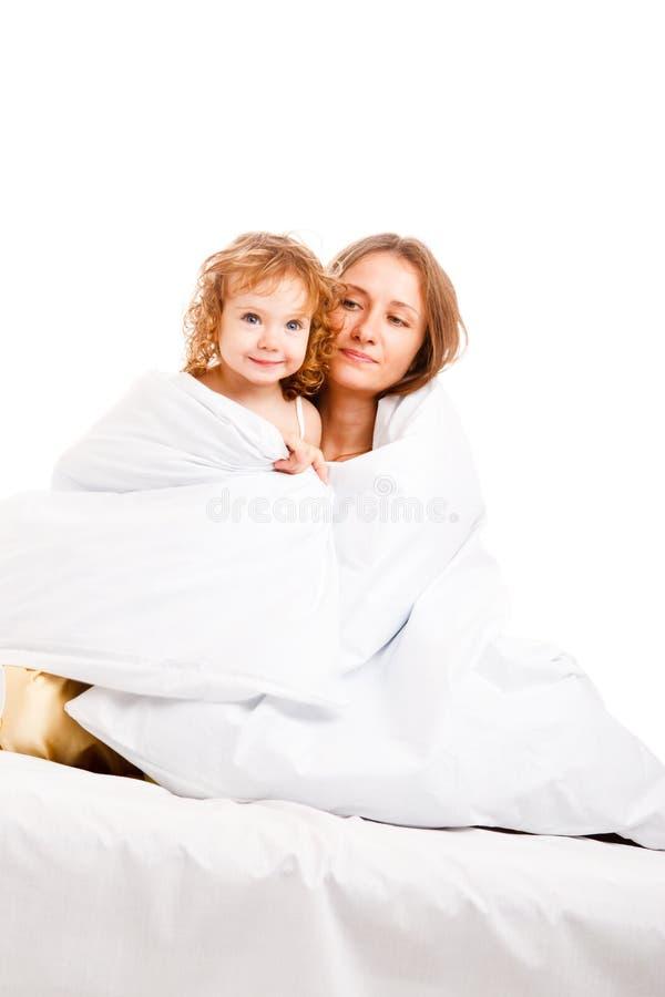 härlig dottermoder arkivbild