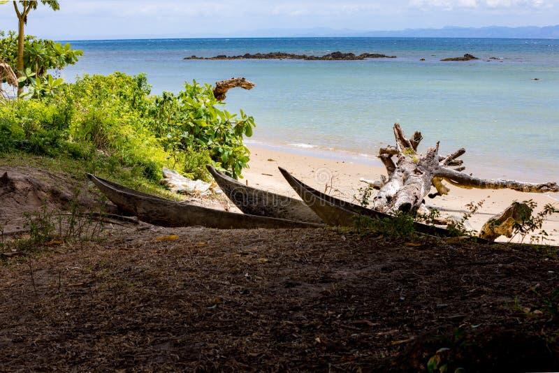Härlig dröm- paradisstrand, Madagascar arkivfoton