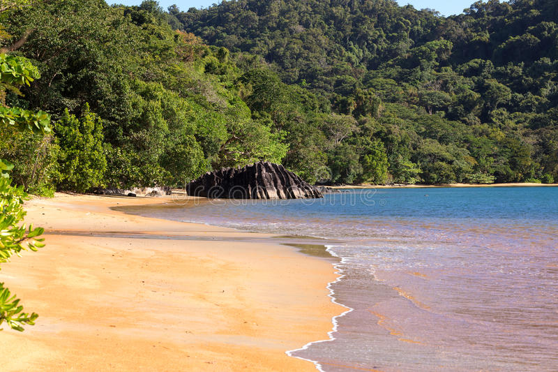 Härlig dröm- paradisstrand, Madagascar royaltyfria bilder
