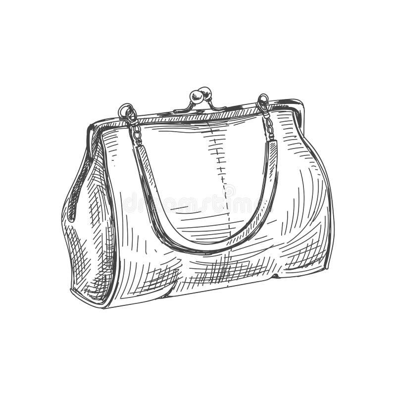 Härlig dragen tappningillustration för vektor hand royaltyfri illustrationer