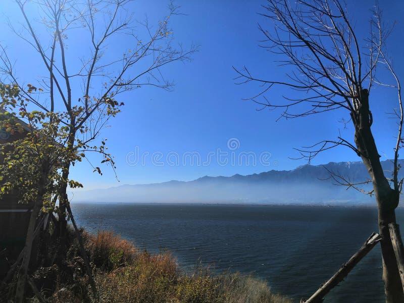 Härlig Erhai sjö i Dali arkivbilder