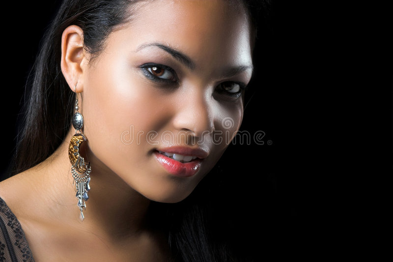 härlig exotisk kvinna arkivfoton